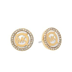Michael Kors Mother of Pearl Logo Stud Earrings
